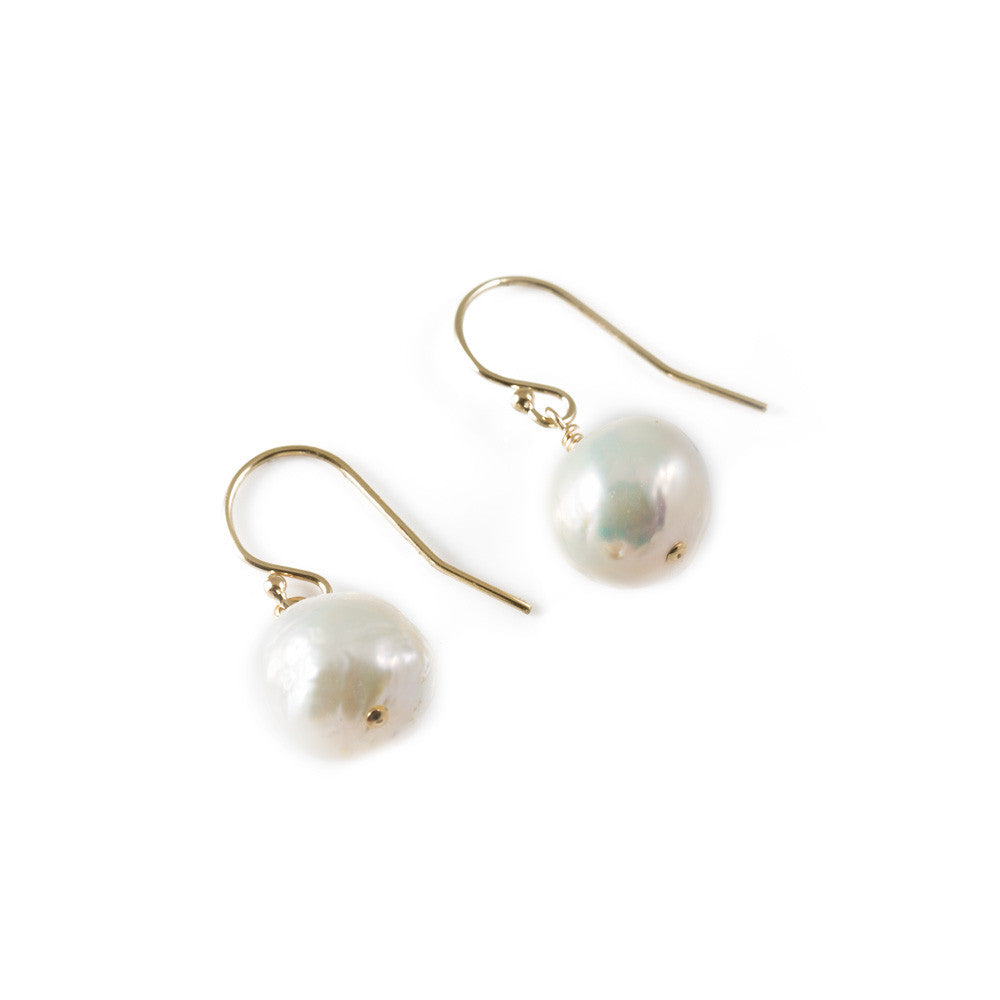 Baroque Pearl Drop Earrings -- Sea Lustre Jewelry