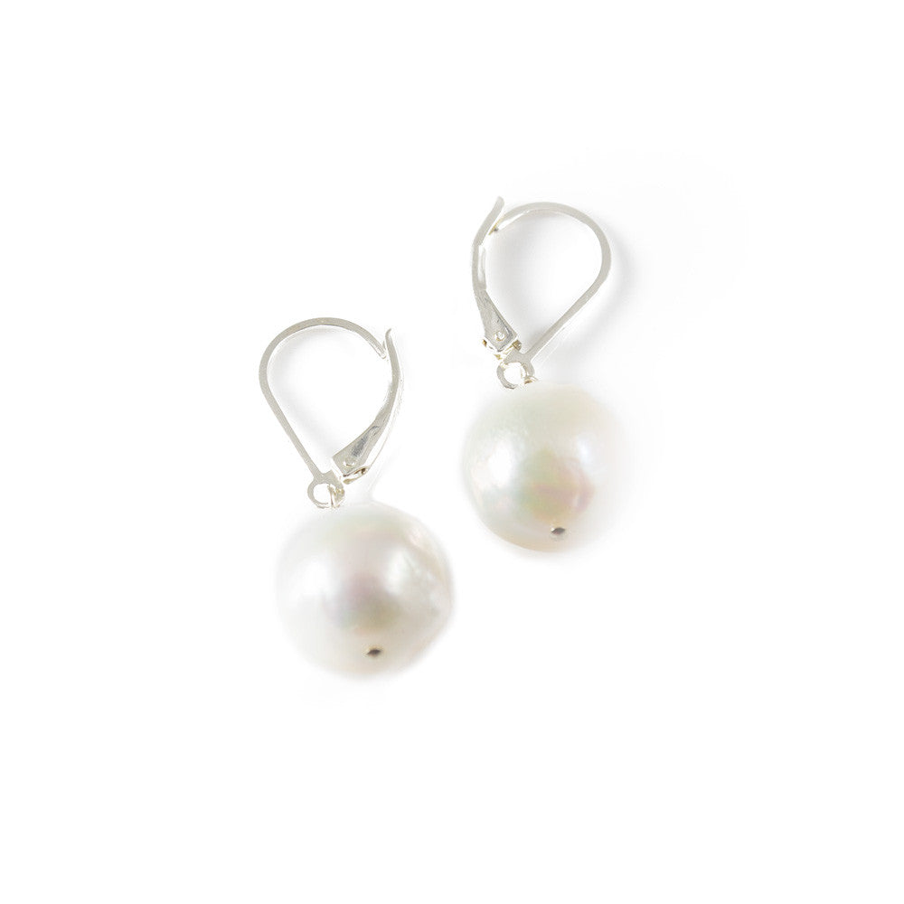 Classic Baroque Pearl Leverback Drop Earring -- Sea Lustre Jewelry