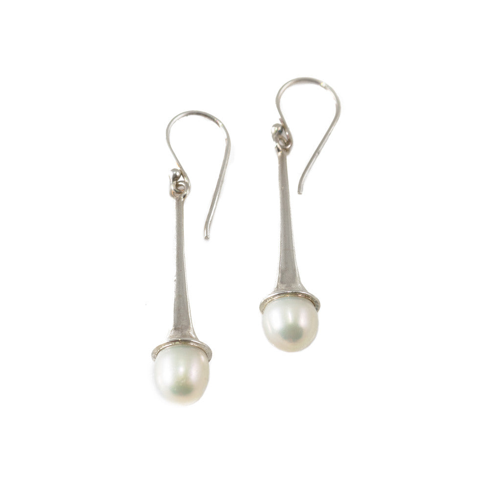 Trumpet Pearl Earrings -- Sea Lustre Jewelry