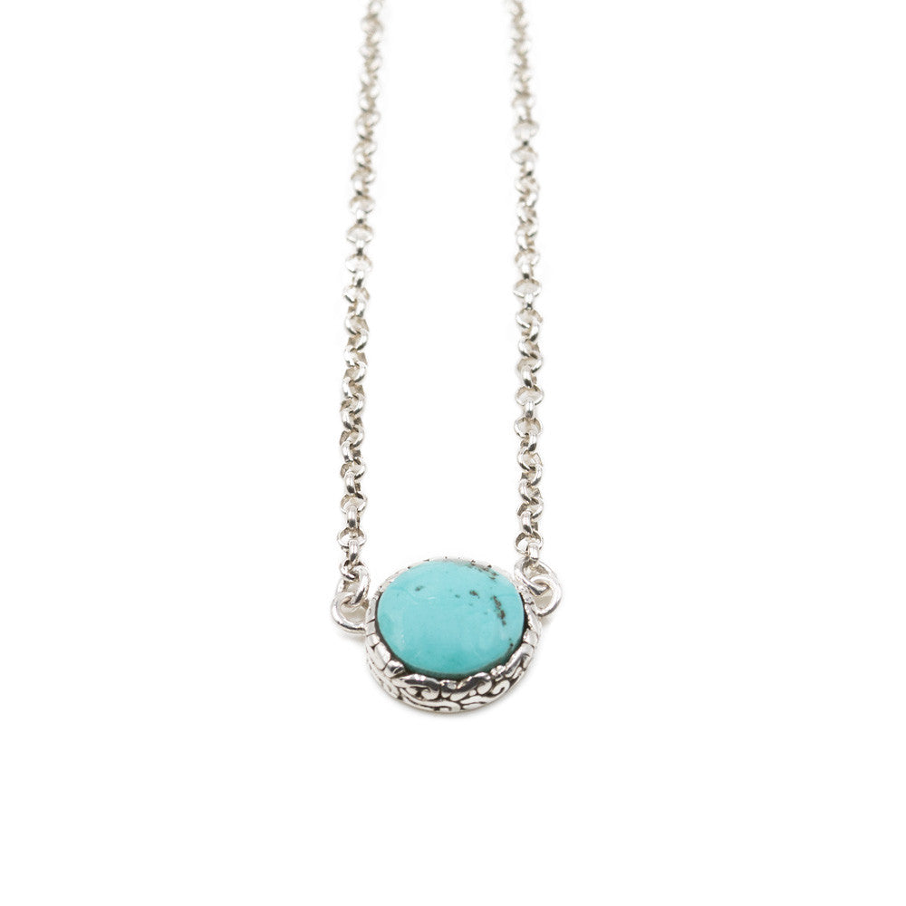 Sterling Silver Turquoise Necklace -- Sea Lustre Jewelry