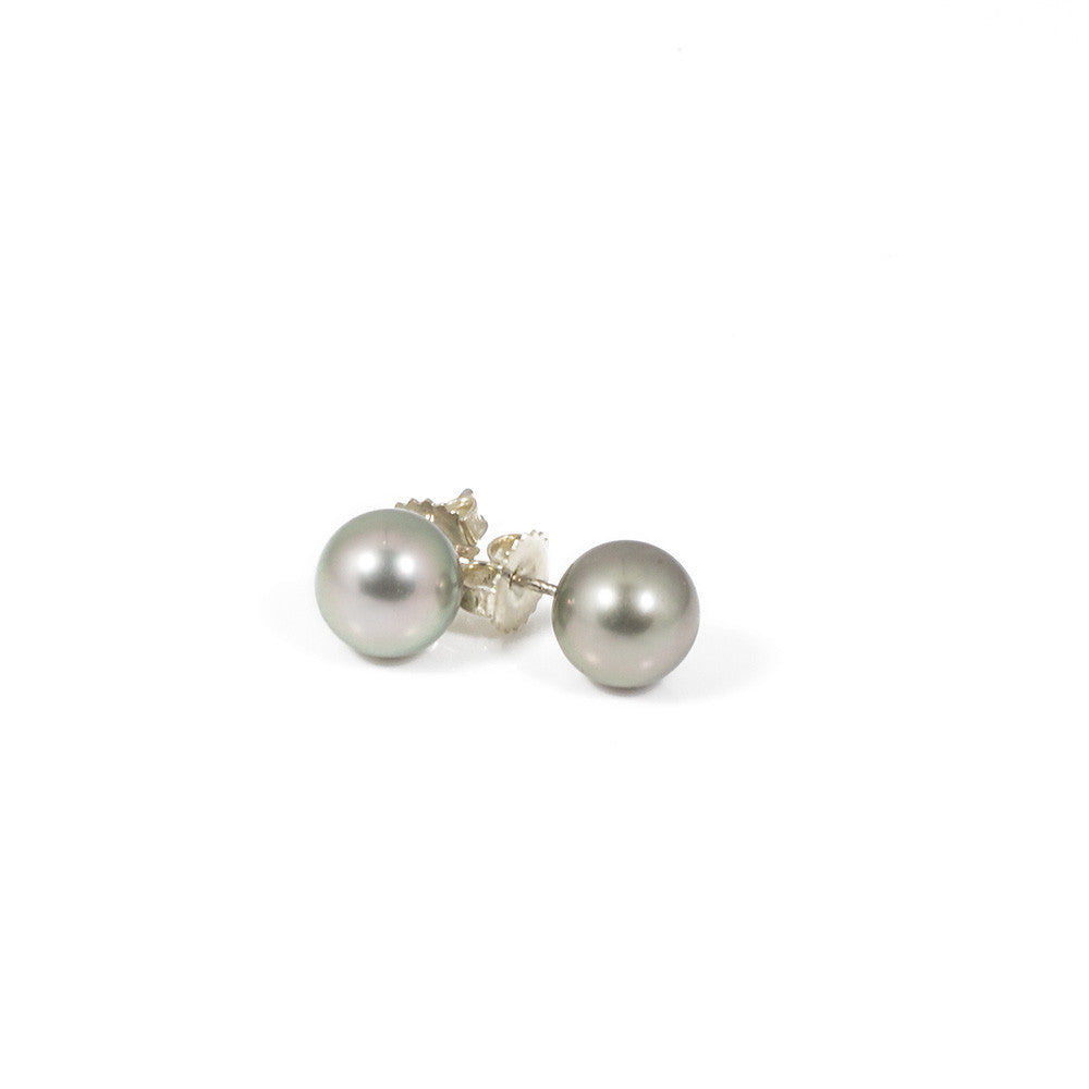 Tahitian Pearl Stud Earrings -- Sea Lustre Jewelry - 1