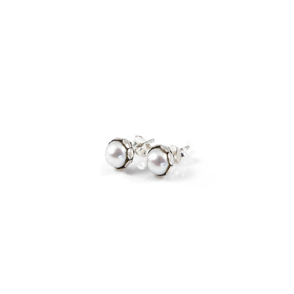 Lombok Freshwater Pearl Stud Earrings -- Sea Lustre Jewelry