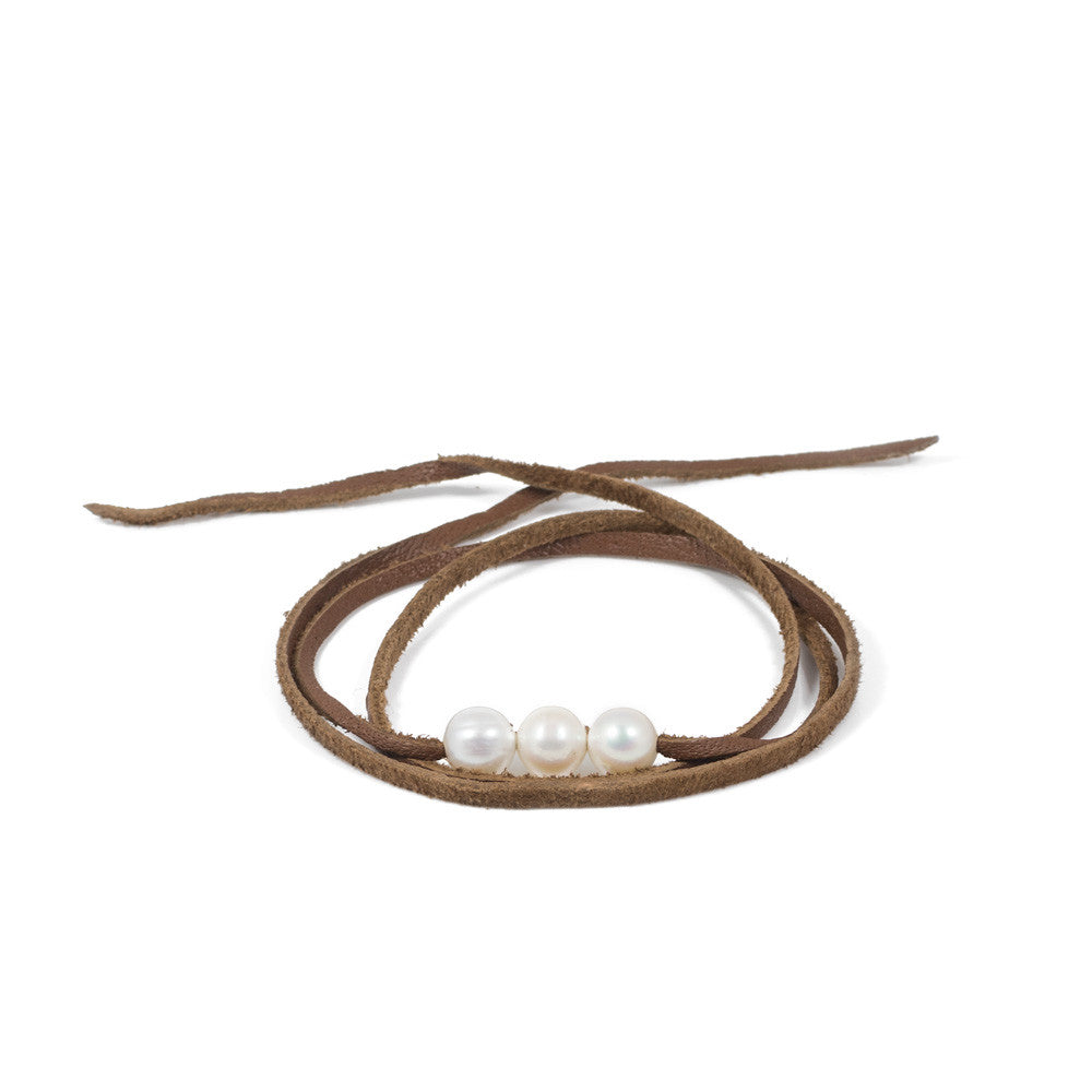 Gili Wrap Trio in Freshwater Pearls -- Sea Lustre Jewelry - 1