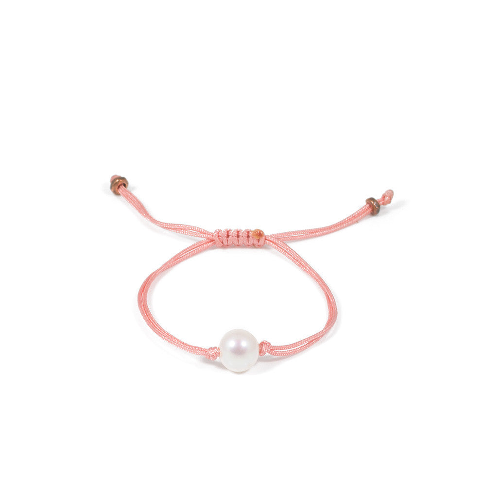 Freshwater Pearl Splash Bracelet in Coral -- Sea Lustre Jewelry