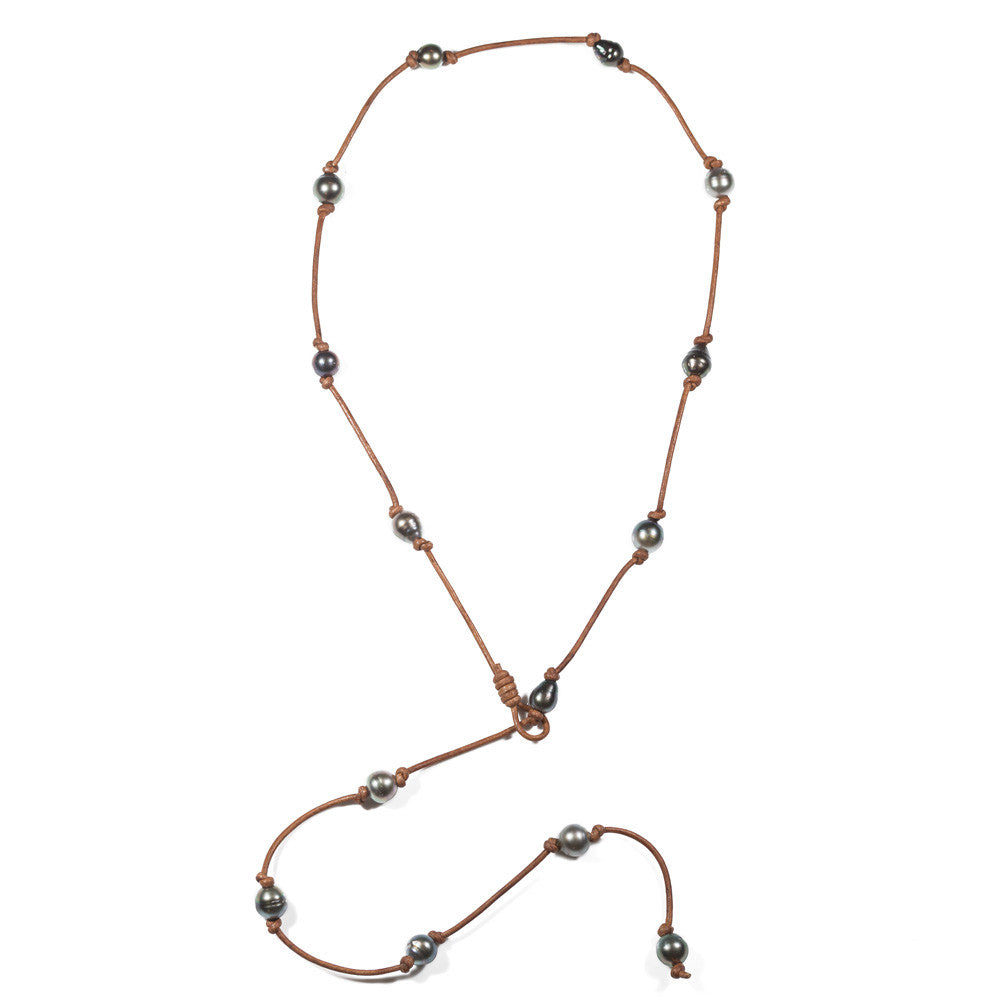 The Love Street Necklace in Tahitian Pearls -- Sea Lustre Jewelry - 1