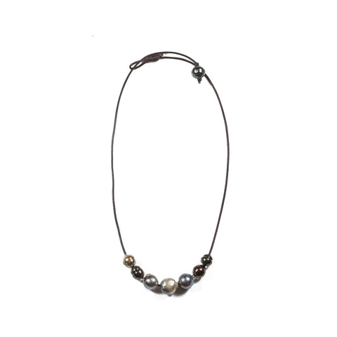 Seven Tahitian Pearl Slide Necklace
