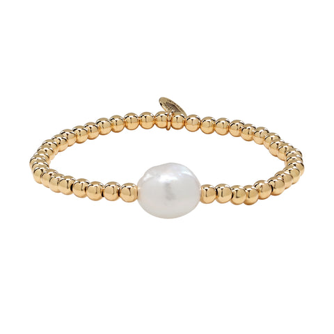 Gold Single Freshwater Bora Bracelet