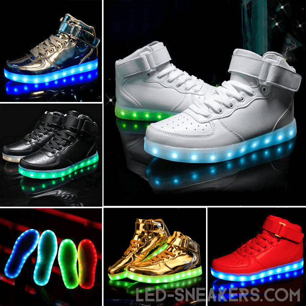 led sneakers air force all colors