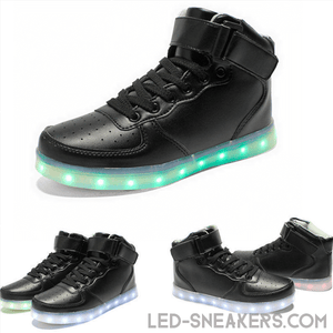 led sneakers air force black only