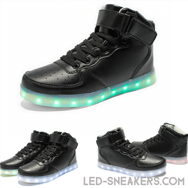 led-sneakers-air-force-black-only