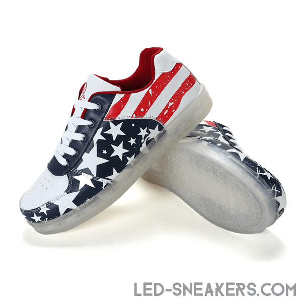led sneakers flag america led shoes flag america light shoes flag america chaussures led led schuhe gall