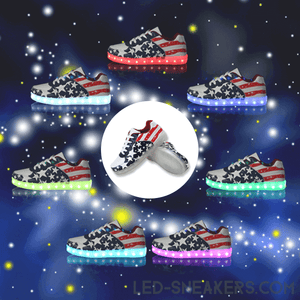 led sneakers flag america led shoes flag america light shoes flag america chaussures led led schuhe main
