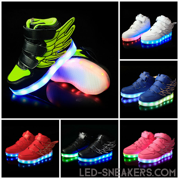 led sneakers kids wings