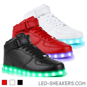 led sneakers led shoes light shoes chaussures led led schuhe all colors high model main
