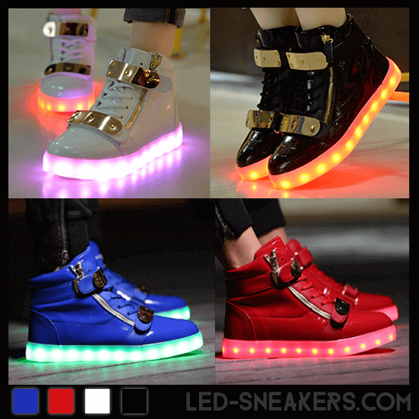 led sneakers led shoes light shoes chaussures led led schuhe millionaire all colors front