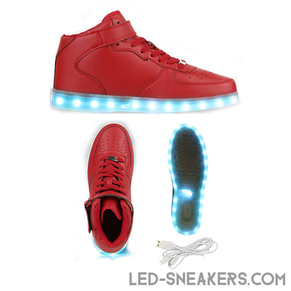 led sneakers led shoes light shoes chaussures led led schuhe red high model gallery