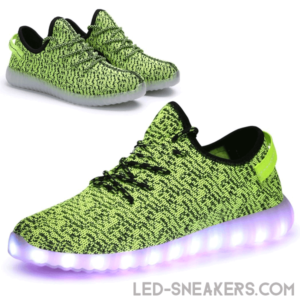 Mesh led sneakers green