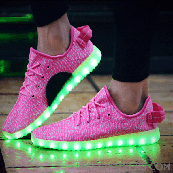 yz led sneakers pink