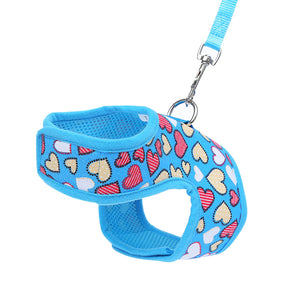 Durable Love Heart Pet Dog Cat Safety Puppy Chest Strap Harness Leash Rope