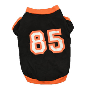 Leisure Sports 85 Number Short Sleeves Pet Vest Cat Dog Soft Summer Tank Top