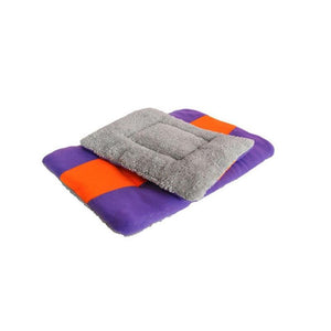 Winter Color Block Dog Cat Puppy Bed Mat Pad Kennel Cushion House Pet Supply