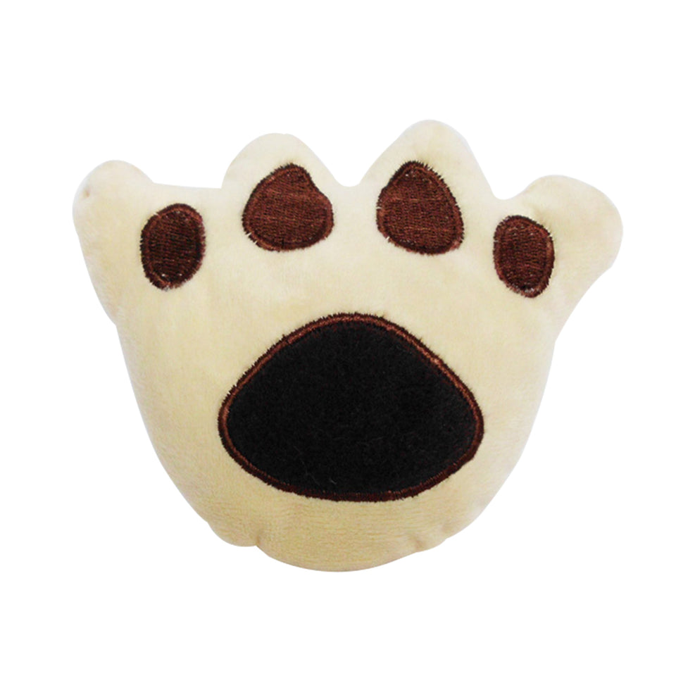 Funny Paw Shape Soft Plush Pet Dog Puppy Chewing Sound Stuffed Play Toy Gift