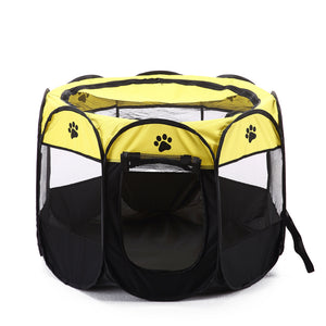Portable Outdoor Folding Octangle Tent Pet Playpen Dog Puppy Cat Carrier Cage