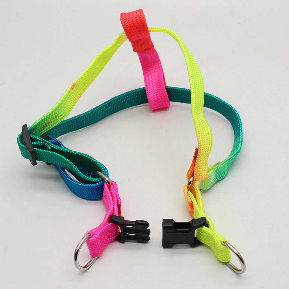 Colorful Adjustable Durable Puppy Pet Dog Harness Chest Strap with Lead Leash