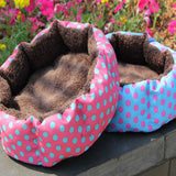 Winter Puppy Dog Cat House Soft Thick Warm Fleece Bed Puppy Pet Basket Nest Mat