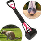 Long Handle Dog Pooper Scooper Plastic Pet Waste Clean Pickup Tool Poop Picker