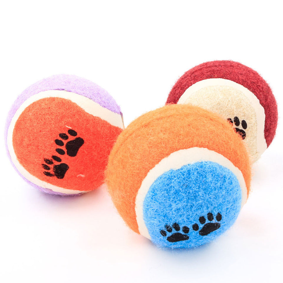 Dog Tennis Ball Chewing Bite Play Toys Molar Training Products Pet Supplies