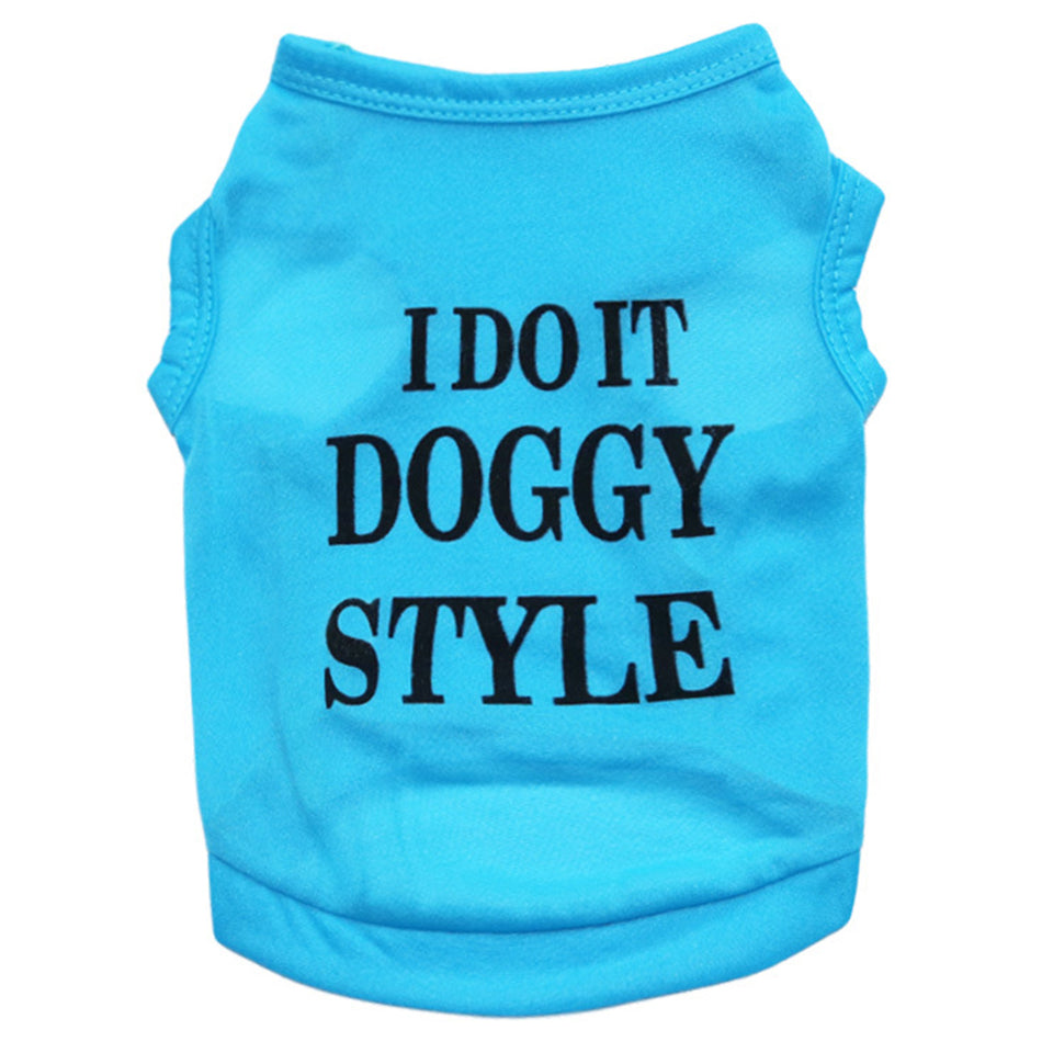 Fashion Letters Pet Puppy Clothes Summer Breathable Vest Tank Top Dog Apparel