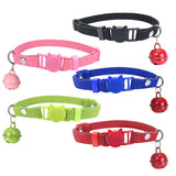 Cute Cat Print Bell Buckle Puppy Dog Pet Collar Adjustable Necklace Soft Gift