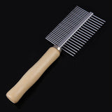 Pet Dog Cat Double Side Metal Row Teeth Brush Massaging Grooming Hair Comb Rake