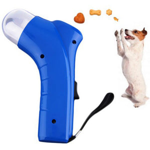 Dog Cat Treat Launcher Snack Food Feeder Catapult Pet Interactive Training Tool
