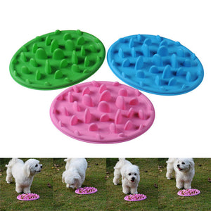 Raised Jungle Anti-choking Silicone Pet Dog Cat Bowl Puppy Feeding Slow Feeder