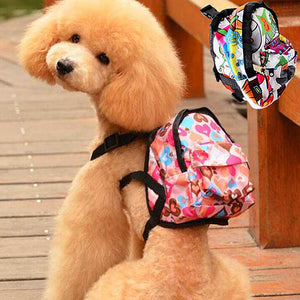 Cartoon Pattern Pet Bag Backpack Travel Carrier for Dog Puppy Cat with Leash
