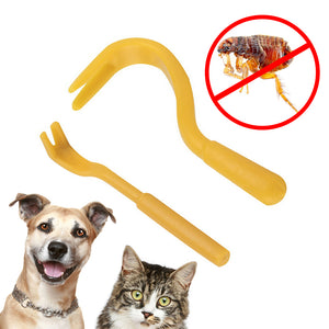 2Pcs/Set Different Size Louse Flea Scratching Remover Hook Tool for Pet Dog Cat