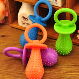 1 Pc Random Color Rubber Pacifier Puppy Dog Chewing Molar Play Toy Pet Supplies
