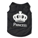 Boss Princess Crown Sleeveless Pet Dog Puppy T-shirt Vest Cute Apparel Clothing