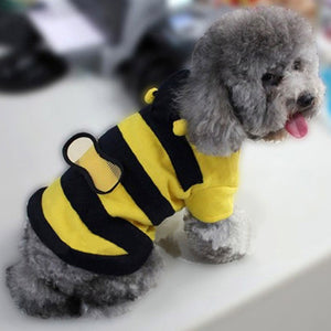Lovely Pet Hoodie Clothes Puppy Apparel Costume Cat Dog Coat Outfit Bee Style