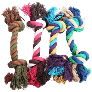 Pet Supplies Puppy Dog Cotton Braided Bone Rope Clean Molar Chew Knot Play Toy