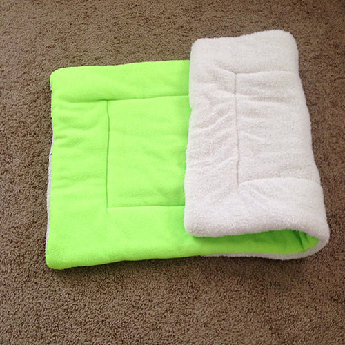 Dog Cat Puppy Washable Warm Fluffy Fleece Pet Mat Kennel Cage Pad Pet Cushion