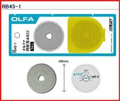 The maximum sharpness / Made in Japan /OLFA 45 mm tungsten steel Ergonomic Rotary Cutter & 45mm Rotary Blade Refill, 1-Pack Value Set freeshipping - Sarah Classic Sewing