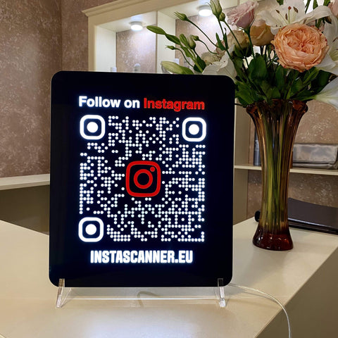 INSTAGRAM LED QR SIGN | Luxury | 20% OFF - Instascanner Store