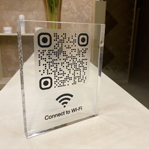 Wi-Fi QR Code Sign | Cube | 20% OFF