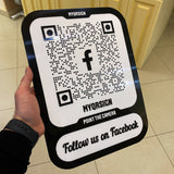 Facebook QR Sign | Model X | 30% OFF