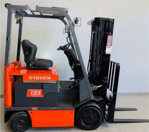 2002 TOYOTA 7FBCHU25 CUSHION TIRE FORKLIFT SN 2229
