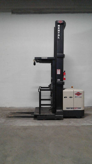 2005 Crown SP3450H-30 Narrow Aisle Stand Up Order Pickers SN 2112