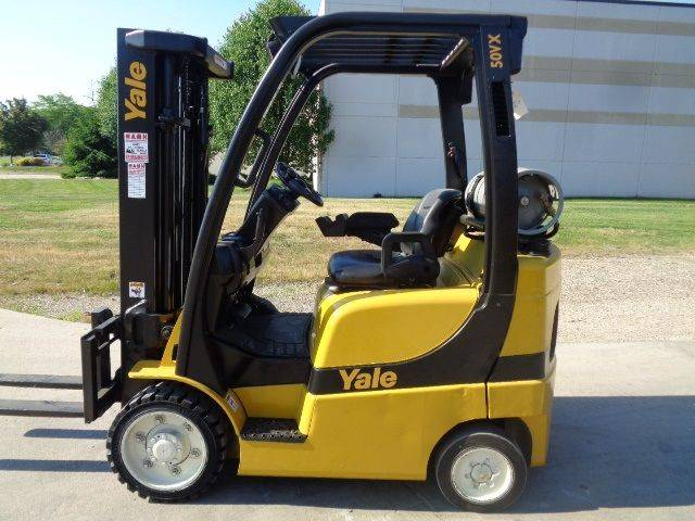 2006 YALE GLC050VXNVSE083 Cushion Tire Forklift SN 2139